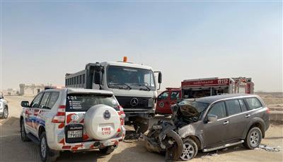 إصابة شخصين في تصادم على طريق السالمي