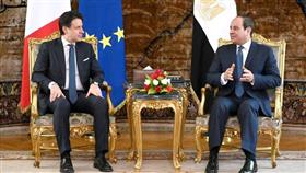 السيسي يستقبل رئيس وزراء إيطاليا ويؤكد ضرورة استعادة الاستقرار في ليبيا