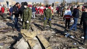 حطام الطائرة الأوكرانية في إيران