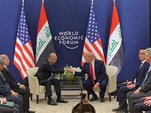 الرئيس الأمريكي دونالد ترامب ونظيره العراقي برهم صالح
