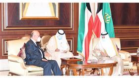 سمو الأمير يستقبل الرئيس العراقي برهم صالح