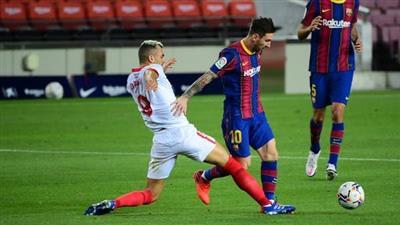 تعادل مخيب لبرشلونة أمام إشبيلية