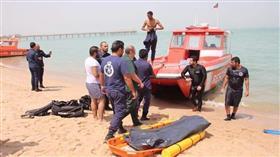 العثور على غريق مجهول الهوية على شاطئ في بنيد القار