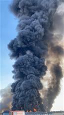 حريق كبير على طريق السالمي