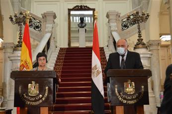 مصر وإسبانيا تؤكدان أهمية التوصل إلى حل للصراع الفلسطيني الإسرائيلي