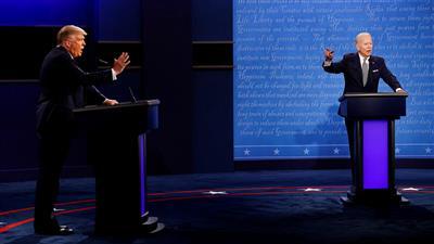 المناظرة الثانية والأخيرة بين ترمب وبايدن