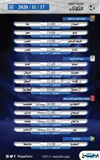 أبرز المباريات العالمية ليوم الثلاثاء 17 نوفمبر 2020