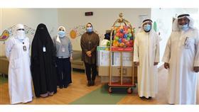 هدايا ومستلزمات لجناح زراعة الخلايا الجذعية بمستشفى البنك الوطني من جمعية صندوق إعانة المرضى