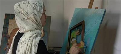 فنانة فلسطينية تعتمد على تقنية جديدة تتيح للمكفوفين تذوق الفن