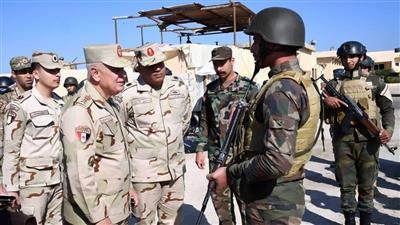 رئيس أركان الجيش المصري خلال جولته في سيناء