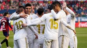 ريال مدريد يفترس أوساسونا ويحقق فوزه الخامس على التوالي في الدوري الإسباني
