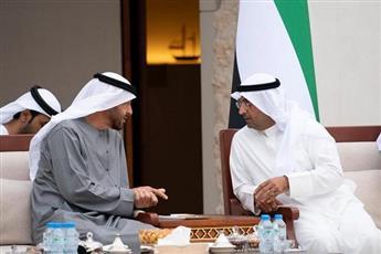 ولي عهد أبو ظبي لدى استقباله أمين مجلس التعاون