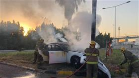 «الإطفاء»: إصابة 4 مواطنين.. في حادث تصادم مركبة بعمود إنارة