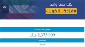 تبرعات «فزعة الكويت» تكسر حاجز الـ 9 ملايين دينار