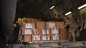 وصول طائرة تابعة للقوة الجوية الكويتية قادمة من بنغلاديش لتقديم الدعم اللوجستي لمختلف الجهات الرسمية في الدولة