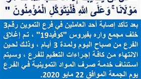تعاونية الجهراء: إصابة أحد عمال فرع التموين رقم 3 خلف مجمع واره