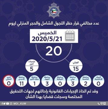 الداخلية: 20 مخالفًا لحظر التجول والحجر المنزلي أمس.. بينهم 15 مواطنًا