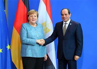 المستشارة الألمانية في لقاء سابق مع الرئيس المصري