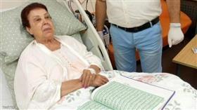 رجاء الجداوي داخل غرفة المستشفى