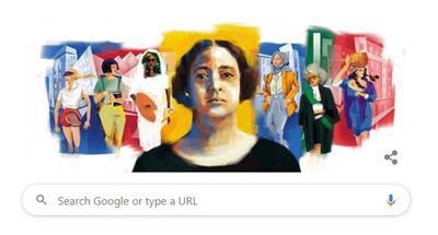 غوغل يحتفي بذكرى ميلاد هدى شعراوي
