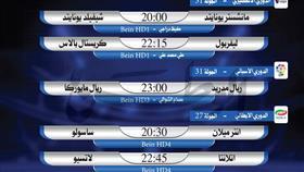 أبرز المباريات العالمية ليوم الأربعاء 24 يونيو 2020