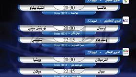 أبرز المباريات العالمية ليوم الأربعاء 1 يوليو 2020