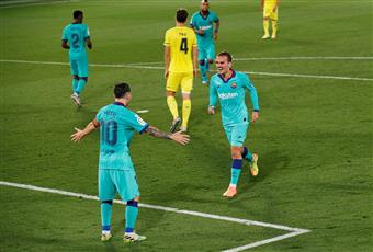 برشلونة يستعيد توازنه بفوز مريح على فياريال