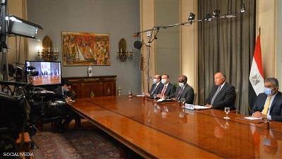 شكري خلال مؤتمر وزاري عبر الفيديو لمجلس الأمن