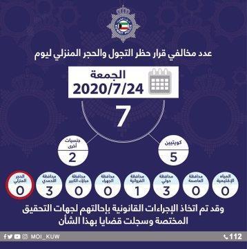 الداخلية: 7 مخالفين لحظر التجول والحجر المنزلي أمس