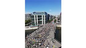 مظاهرات في شوارع برلين احتجاجًا على قيود كورونا