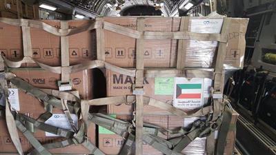 استمرار المساعدات الكويتية للبنان بوصول 35 طنا من المواد الطبية والغذائية