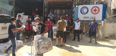 الهلال الأحمر الكويتي يغيث ألف أسرة في بيروت