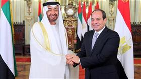 ولي عهد أبوظبي مع الرئيس المصري