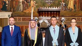 رئيسا جمهورية سان مارينو ووزير خارجيتها مع السفير الشيخ عزام الصباح