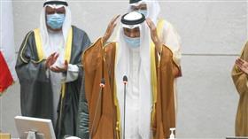 سمو أمير البلاد الشيخ نواف الأحمد أثناء أداء سموه اليمين الدستورية