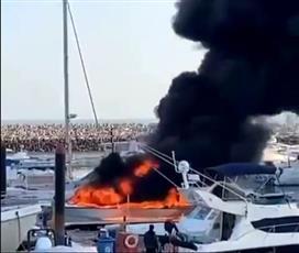 الإطفاء: السيطرة على حريق يخت في مرسى نادي اليخوت