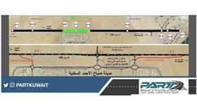 «الطرق» تفتتح غدًا طريق مدينة صباح الأحمد السكنية