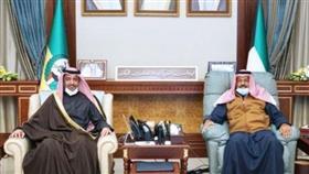 نائب رئيس الحرس الوطني الشيخ أحمد نواف الأحمد يستقبل سفير دولة قطر لدى الكويت