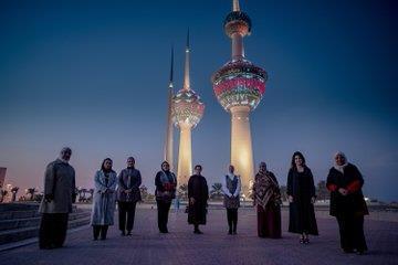 إضاءة أبراج الكويت بنقوش فن السدو حتى 31 الجاري